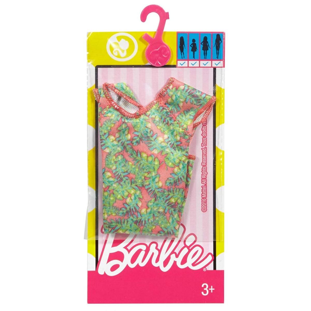Barbie Fashions Green Flutter Sleeve Dress
