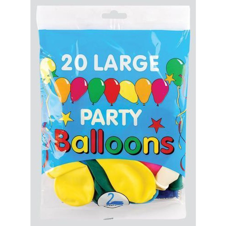 20 large party balloons