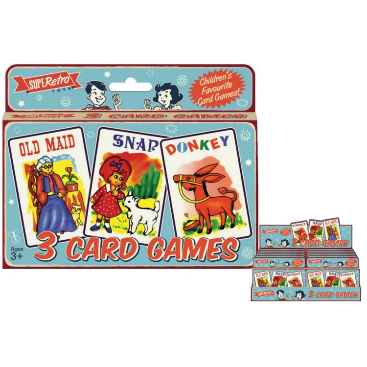 3 Card Games in 1 Box! Old Maid, Snap and Donkey TY8564
