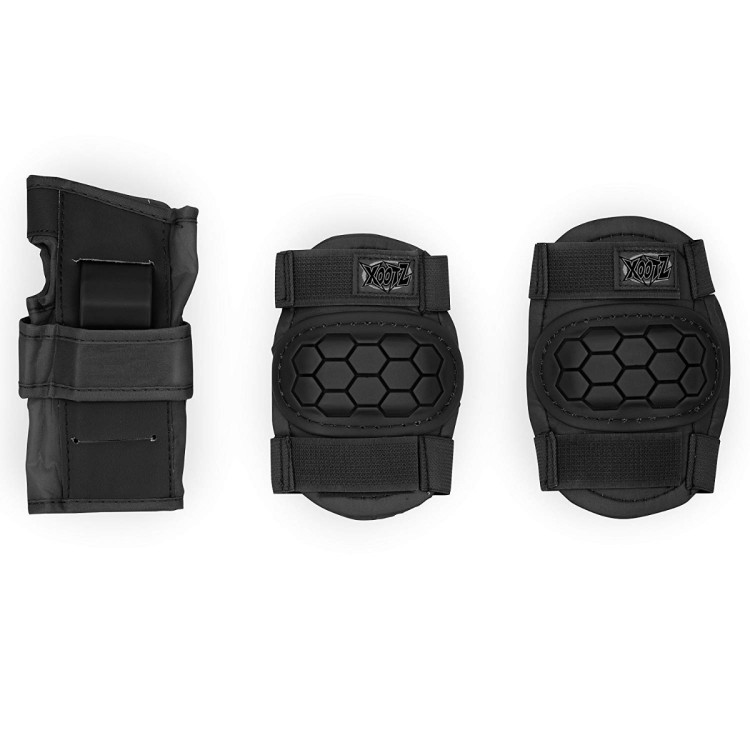 6 piece safety pad set Black Medium