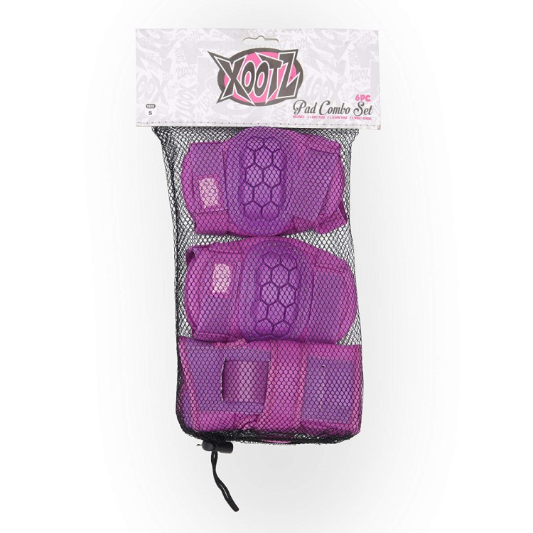 6pc Kids Pad Set Purple Med