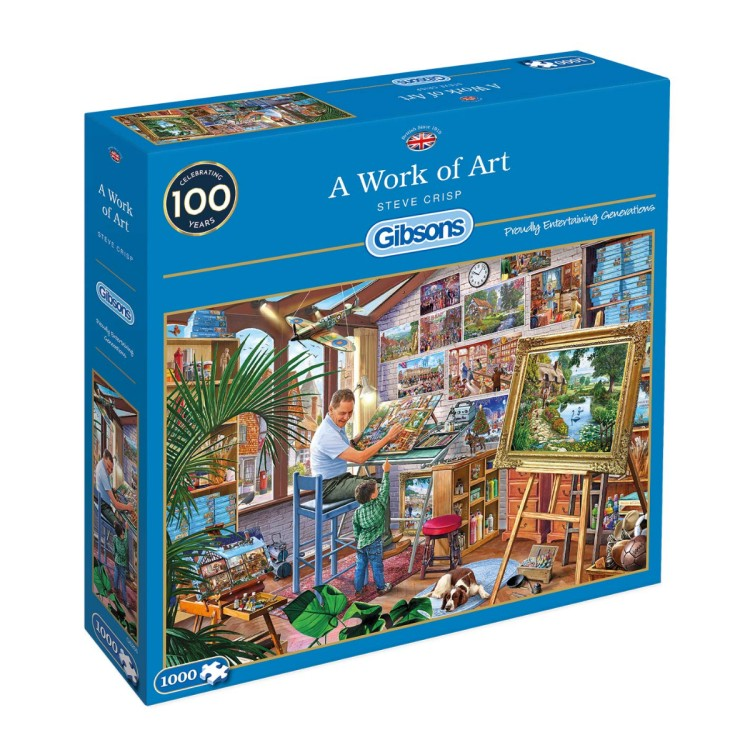 Gibsons - G6266 A Work Of Art 1000Pc Puzzle