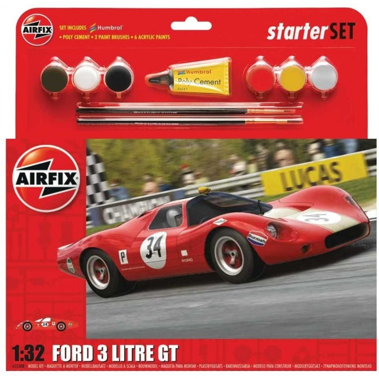 Airfix 1:32 Ford 3 Litre GT Starter Set with Paint