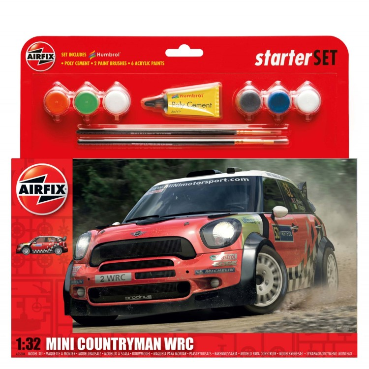 Airfix 1:32 Mini Countryman WRC Starter Set A55304