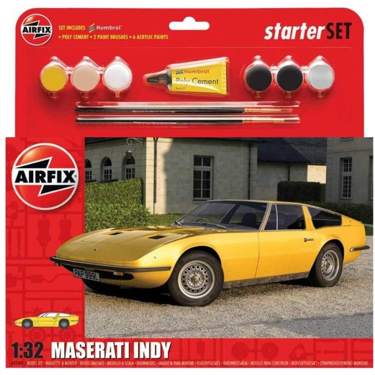Airfix Starter Set 1:32 Maserati Indy With Paints