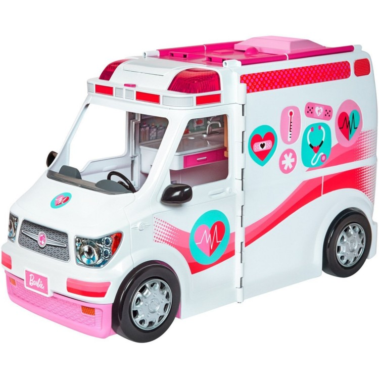 Barbie Care Clinic Playset - Ambulance Mobile Hospital Rescue Vehicle