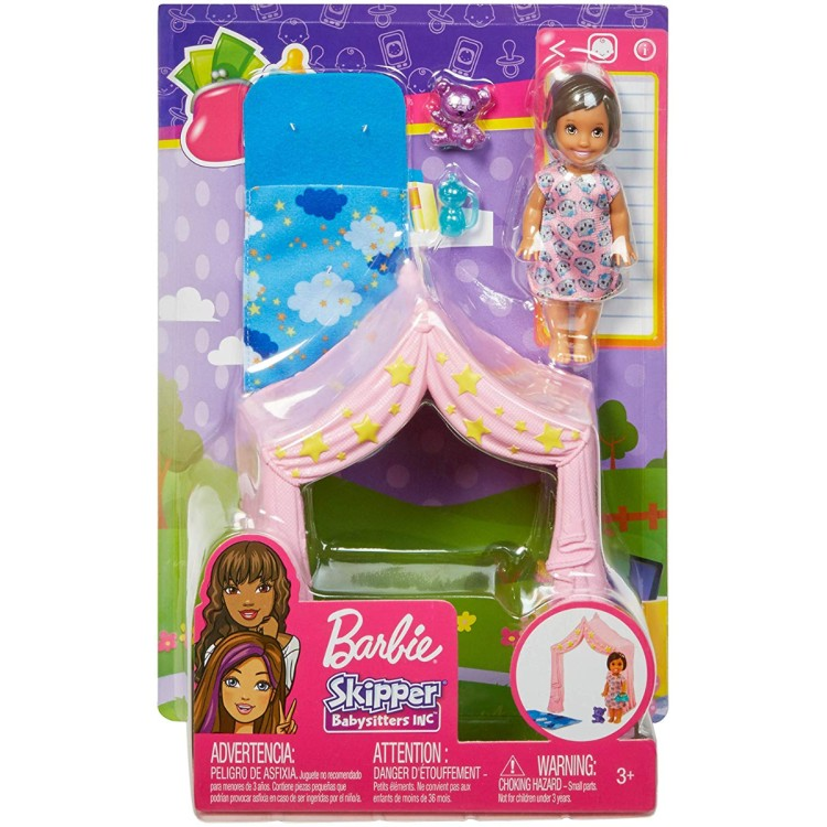 Barbie Skipper Babysitter Accessory - Tent and Doll