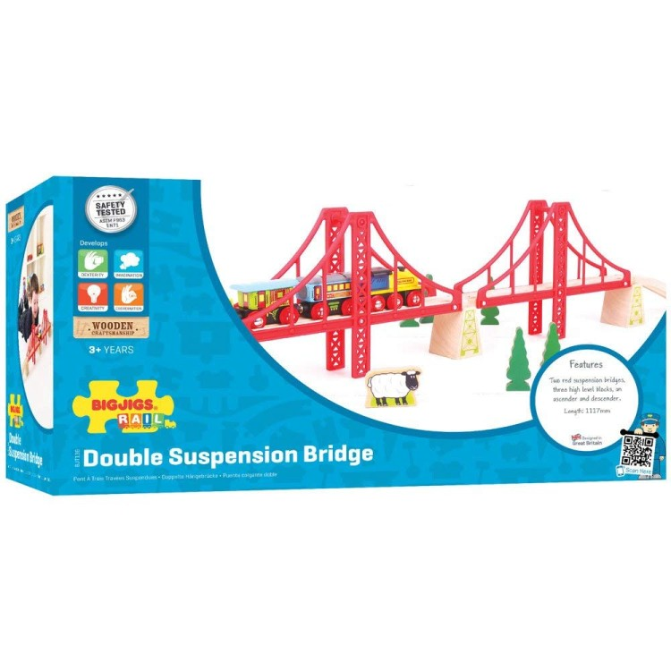 Bigjigs Rail - Double Suspension Bridge