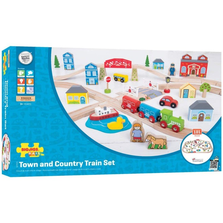 Bigjigs Rail - Town and Country Train Set