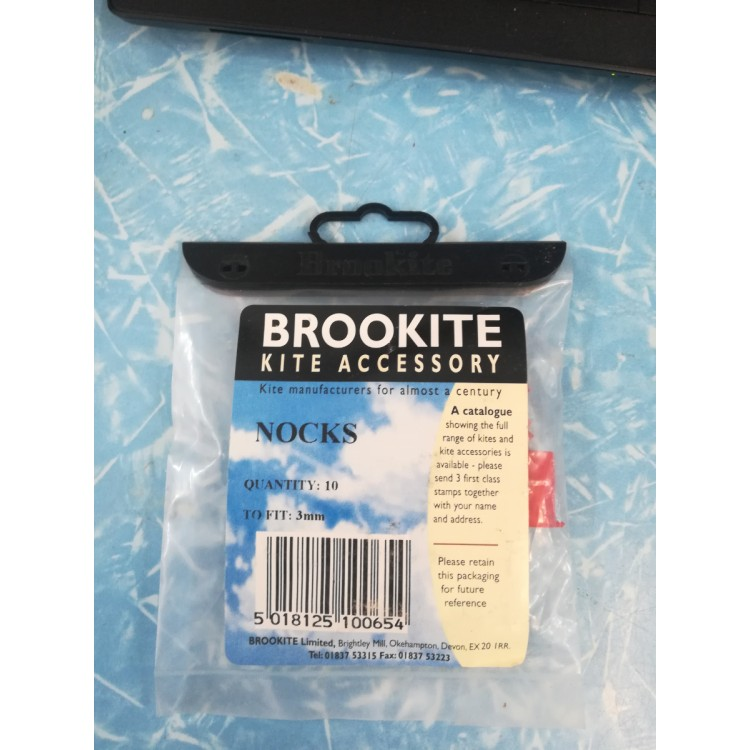 Brookite Kite Accessory Red nocks 3mm