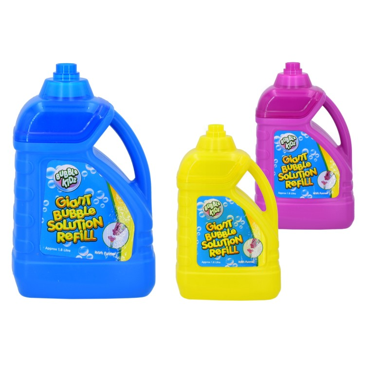 Bubble Kidz Giant Bubble Solution Refill With Funnel 1.8 Litre TY4425