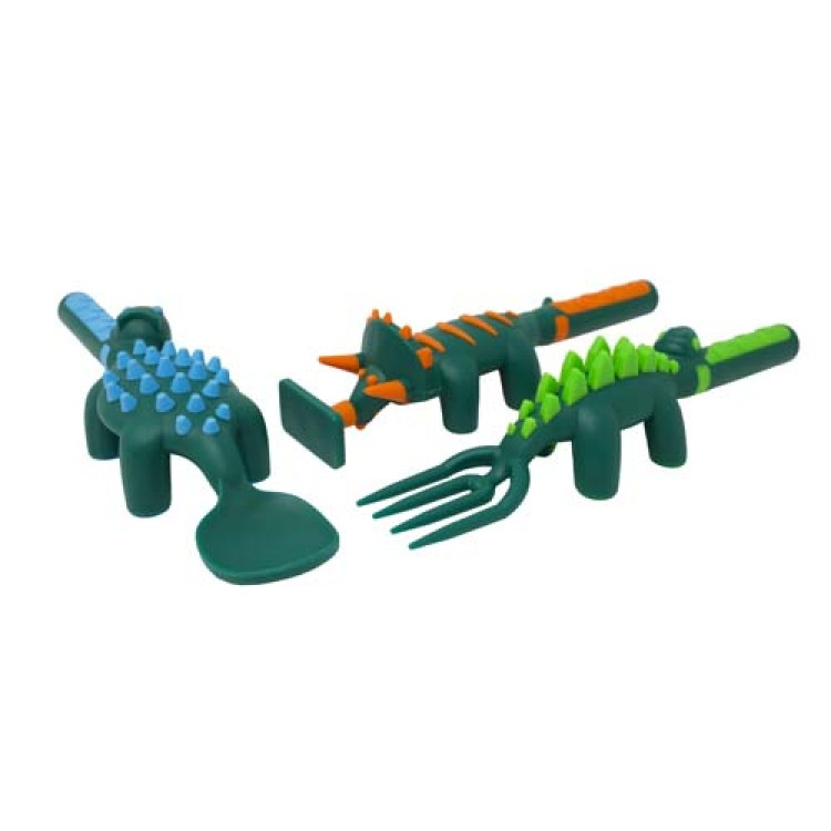 Constructive Eating cutlery Set Dino Utensils