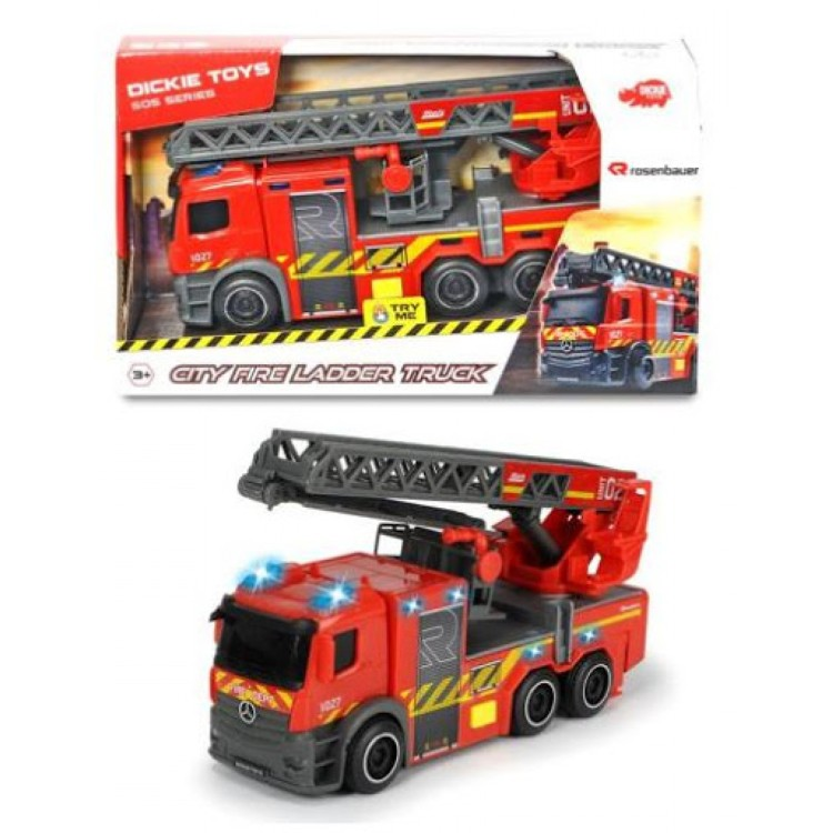 Dickie Toys - City Fire Ladder Truck