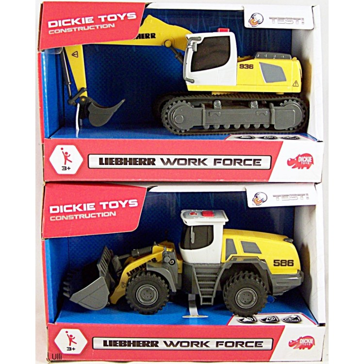 Dickie Toys Liebherr Workforce Construction Vehicle Assr