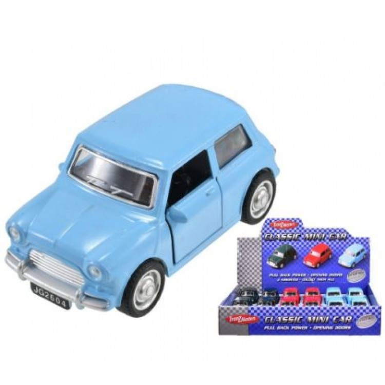 Die cast Classic Pull Back Ford Anglia Various Colours ty4205