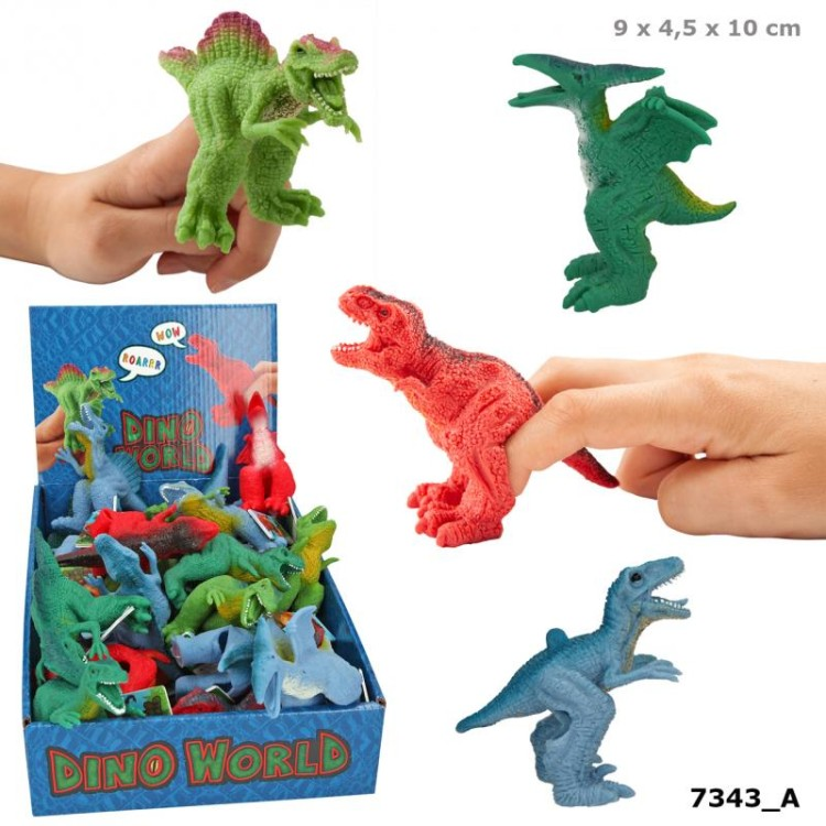 Dino World Finger Puppets Assorted