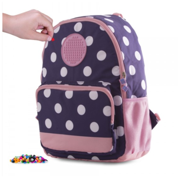 Pixie Crew Backpack - Circle Pop Pink