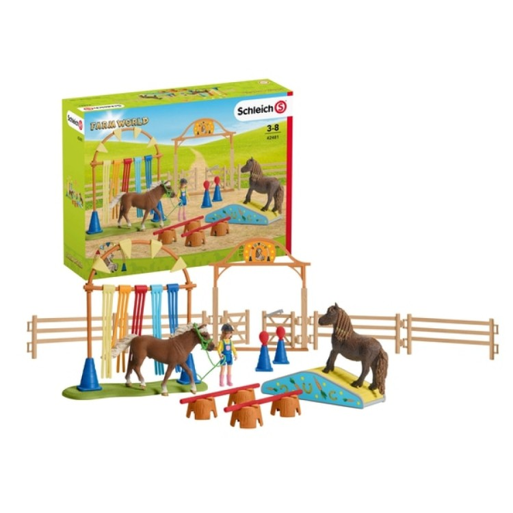 schleich horse club pony agility training 42481