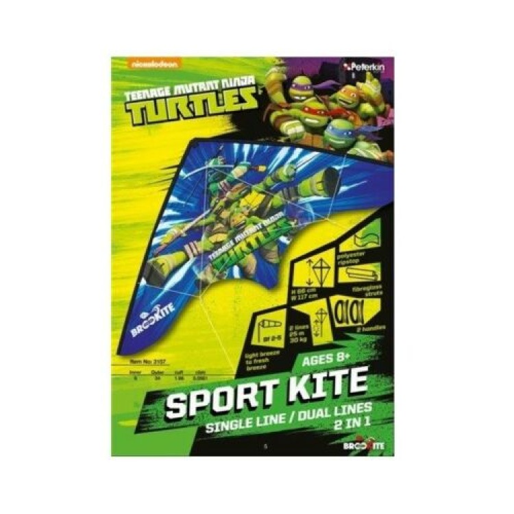 Brookite Teenage Mutant Ninja Turtle Dual Line Sports Kite
