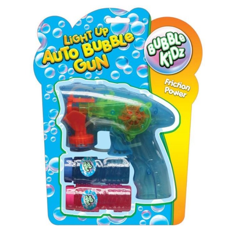 Auto Bubble Gun With Light With 2 Bubble Tubs TY1542
