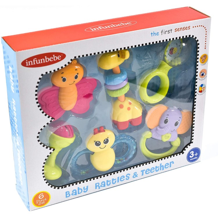 TY3592 Baby Rattles 6pc Playset