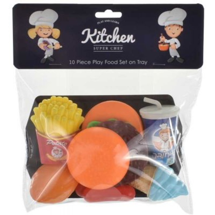 TY4192 10Piece food play set on tray