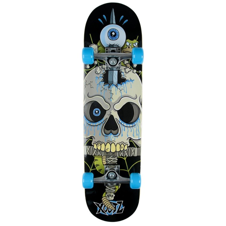 Xootz Snake Skull Complete Beginners Double Kick Trick Skateboard Maple Deck 31 x 8 Inches TY5844